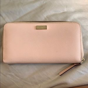 Kate Spade Baby Pink Leather Wallet